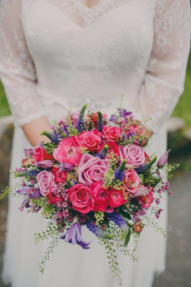 Wedding flowers in Sussex, brides bouquet