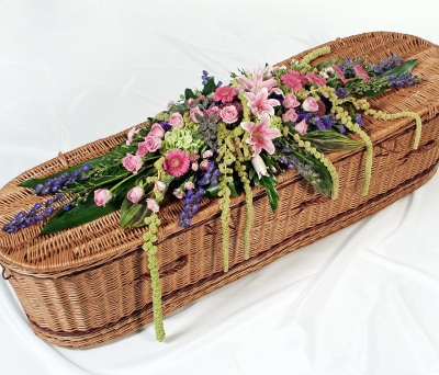 Seasonal casket spray