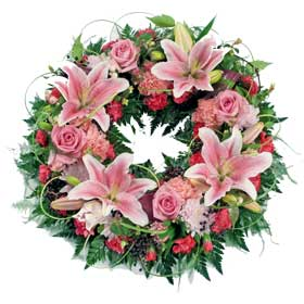 Choice flower wreath